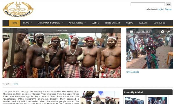 A community website for the Abiriba Enachioken